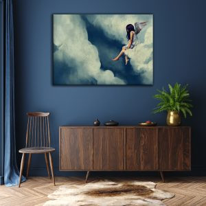 above the clouds-canvas