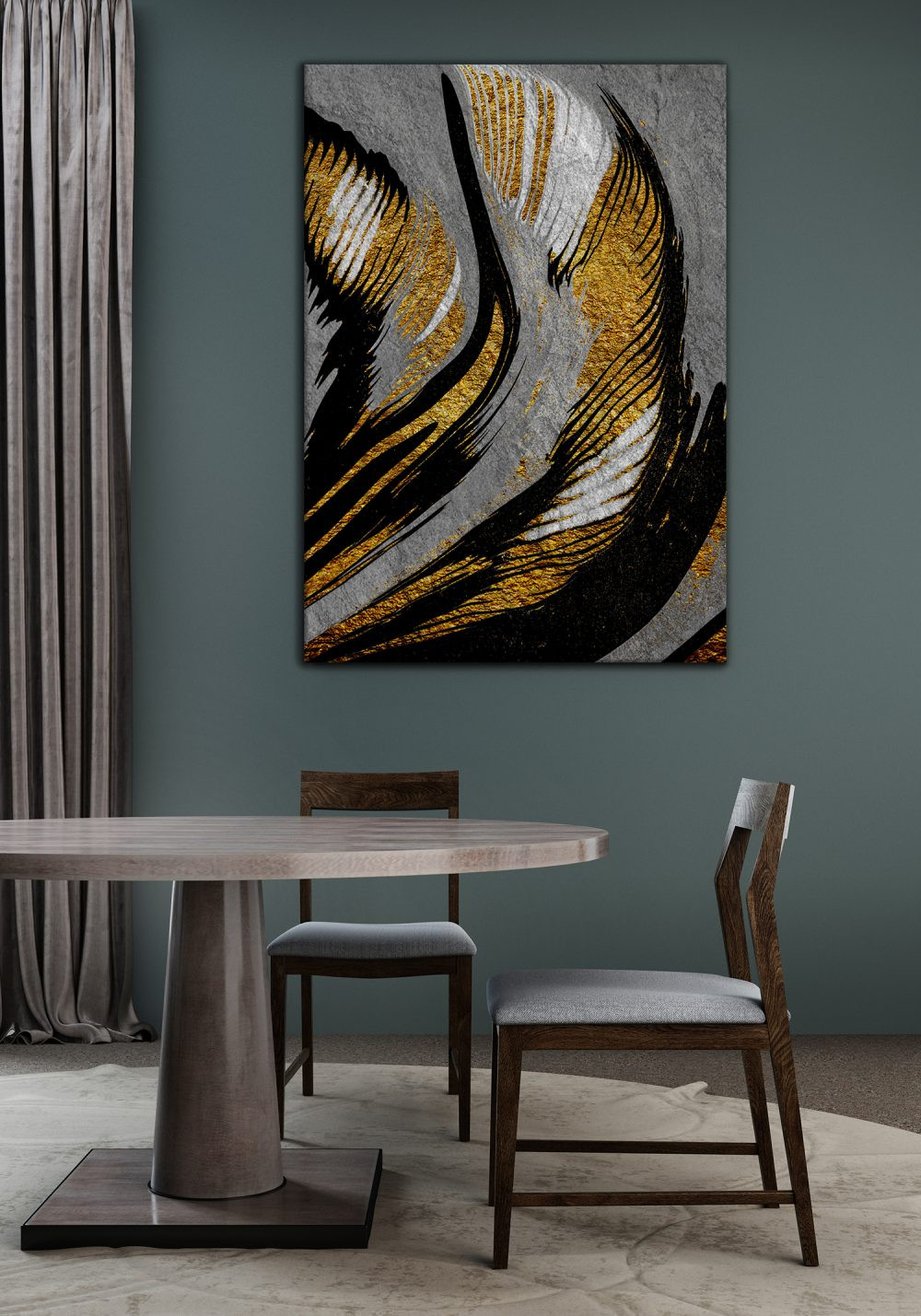 SCATTERING-GOLD-TEXTURE-CANVAS